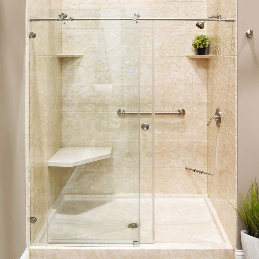 new shower system installed during bathroom remodel